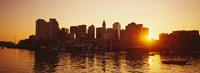 "Sunset over skyscrapers, Boston, Massachusetts, USA by Panoramic Images - 27"" x 9"" - $28.99"