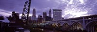Cleveland Ohio Bridge and River