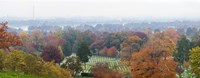 High angle view of a cemetery, Arlington National Cemetery, Washington DC, USA Fine Art Print