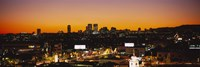 """High angle view of buildings in a city, Century City, City of Los Angeles, California, USA by Panoramic Images - 27"""" x 9"""""""