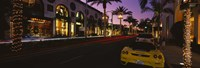 """Cars parked on the road, Rodeo Drive, City of Los Angeles, California, USA by Panoramic Images - 27"""" x 9"""""""