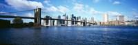 "Bridge across a river, Brooklyn Bridge, Manhattan by Panoramic Images - 27"" x 9"""