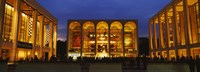 """Entertainment building lit up at night, Lincoln Center, Manhattan, New York City, New York State, USA by Panoramic Images - 27"""" x 10"""""""