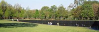 """Tourists standing in front of a monument, Vietnam Veterans Memorial, Washington DC, USA by Panoramic Images - 27"""" x 9"""""""