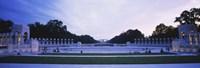 """Tourists at a war memorial, National World War II Memorial, Washington DC, USA by Panoramic Images - 27"""" x 9"""" - $28.99"""