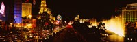 "The Strip Lit Up at Night, Las Vegas, Nevada, USA by Panoramic Images - 27"" x 8"""