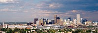 "Skyline with Invesco Stadium, Denver, Colorado, USA by Panoramic Images - 27"" x 9"""