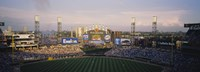 "High angle view of spectators in a stadium, U.S. Cellular Field, Chicago, Illinois, USA by Panoramic Images - 27"" x 9"""