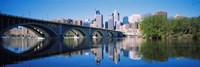 "Arch bridge across a river, Minneapolis, Hennepin County, Minnesota, USA by Panoramic Images - 27"" x 9"""