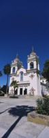 """Facade of a cathedral, Portuguese Cathedral, San Jose, Silicon Valley, Santa Clara County, California, USA by Panoramic Images - 9"""" x 27"""""""