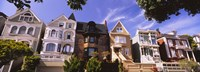 """Row of houses in Presidio Heights, San Francisco, California by Panoramic Images - 27"""" x 9"""" - $28.99"""