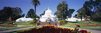 """Tourists in a formal garden, Conservatory of Flowers, Golden Gate Park, San Francisco, California, USA by Panoramic Images - 27"""" x 9"""", FulcrumGallery.com brand"""