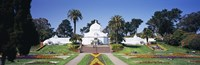 """Facade of a building, Conservatory of Flowers, Golden Gate Park, San Francisco, California, USA by Panoramic Images - 27"""" x 9"""""""