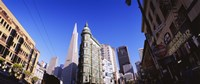 """Low angle view of buildings in a city, Columbus Avenue, San Francisco, California, USA by Panoramic Images - 27"""" x 9"""""""