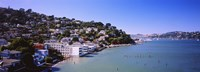 "City at the coast, Sausalito, Marin County, California, USA by Panoramic Images - 27"" x 9"""