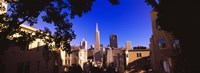 """Buildings in a city, Telegraph Hill, Transamerica Pyramid, San Francisco, California, USA by Panoramic Images - 27"""" x 9"""""""