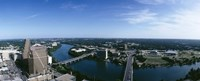 """High angle view of a river passing through a city, Austin, Texas, USA by Panoramic Images - 27"""" x 9"""""""