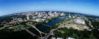 Bird's Eye view of Austin,Texas Fine Art Print