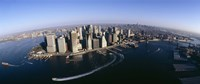 """Aerial View of Manhattan, New York City by Panoramic Images - 27"""" x 9"""""""