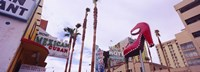 """Low angle view of a sculpture of a high heel, Fremont Street, Las Vegas, Clark County, Nevada, USA by Panoramic Images - 27"""" x 9"""""""