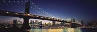"""Manhattan Bridge, New York City by Panoramic Images - 27"""" x 9"""""""