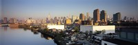 """Buildings at the waterfront, Midtown Manhattan, Manhattan, New York City, New York State, USA by Panoramic Images - 27"""" x 9"""""""