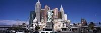 Buildings in a city, New York New York Hotel, The Las Vegas Strip, Las Vegas, Nevada, USA Fine Art Print
