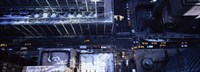 """Aerial view of vehicles on the road in a city, New York City by Panoramic Images - 27"""" x 9"""""""