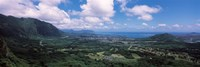 High angle view of a landscape, Kaneohe, Oahu, Hawaii Fine Art Print