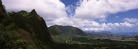 "Clouds over a mountain, Kaneohe, Oahu, Hawaii, USA by Panoramic Images - 27"" x 9"", FulcrumGallery.com brand"
