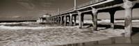 Manhattan Beach Pier in Black and White, Los Angeles County Fine Art Print