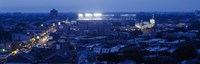 """Aerial view of a city, Wrigley Field, Chicago, Illinois, USA by Panoramic Images - 27"""" x 9"""""""