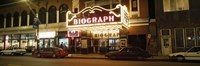 "Theater lit up at night, Biograph Theater, Lincoln Avenue, Chicago, Illinois, USA by Panoramic Images - 27"" x 9"", FulcrumGallery.com brand"