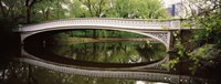 "Arch bridge across a lake, Central Park, Manhattan, New York City, New York State, USA by Panoramic Images - 27"" x 9"""