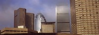 """Skyscrapers in a city, Boston, Suffolk County, Massachusetts, USA by Panoramic Images - 27"""" x 9"""""""