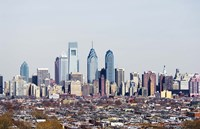 "Center City, Philadelphia, Pennsylvania by Panoramic Images - 27"" x 9"""