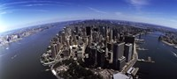 """Aerial view of a city, New York City, New York State, USA by Panoramic Images - 27"""" x 9"""""""