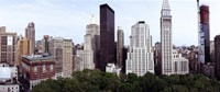 """Skyscrapers in a city, Madison Square Park, New York City, New York State, USA by Panoramic Images - 27"""" x 9"""""""