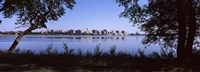 """Lake Monona and Madison, Wisconsin Through the Trees by Panoramic Images - 27"""" x 9"""""""