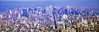 """Wide Angle View of Manhattan by Panoramic Images - 27"""" x 9"""""""