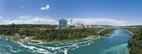 "Arch bridge across a river, Rainbow Bridge, Niagara River, Niagara Falls, Ontario, Canada by Panoramic Images - 27"" x 9"""
