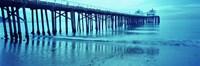 "Pier at sunset, Malibu Pier, Malibu, Los Angeles County, California, USA by Panoramic Images - 27"" x 9"""
