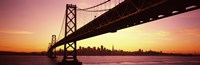 "Sunset over San Francisco Bay, San Francisco, California, USA by Panoramic Images - 27"" x 9"" - $28.99"