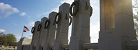 """Colonnade in a war memorial, National World War II Memorial, Washington DC, USA by Panoramic Images - 27"""" x 9"""""""