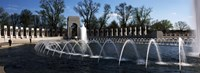 """Fountains at a war memorial, National World War II Memorial, Washington DC, USA by Panoramic Images - 27"""" x 10"""", FulcrumGallery.com brand"""