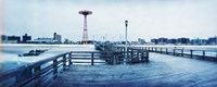 City in winter, Coney Island, Brooklyn, New York City, New York State, USA Fine Art Print