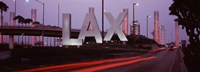 """Airport at dusk, Los Angeles International Airport, Los Angeles, Los Angeles County, California, USA by Panoramic Images - 27"""" x 9"""""""
