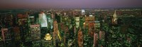 """Skyscrapers at night, New York City, New York State, USA by Panoramic Images - 27"""" x 9"""", FulcrumGallery.com brand"""
