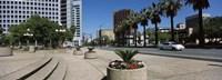 "Office buildings in a city, Downtown San Jose, San Jose, Santa Clara County, California, USA by Panoramic Images - 27"" x 9"""