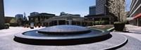 "Plaza De Cesar Chavez Fountain, Downtown San Jose by Panoramic Images - 27"" x 9"""